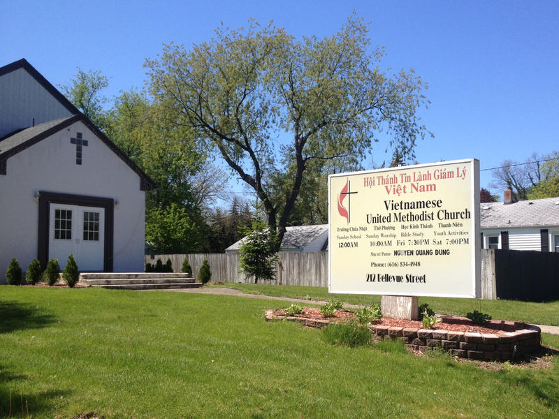 Vietnamese United Methodist Church is one of several in Grand Rapids that offers services in Vietnamese. According to Western Michigan University, there are about 6,000 people of Vietnamese descent living in Grand Rapids alone.