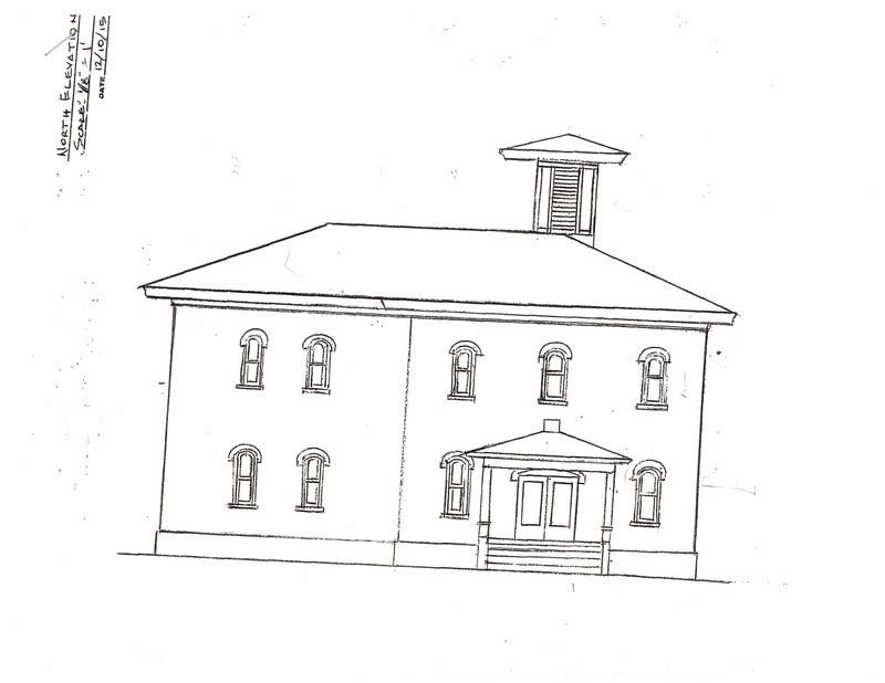 From Spigelmyer's blueprint of the school