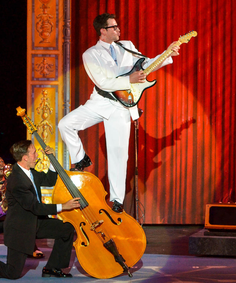 Andy Christopher as rock and roll legend Buddy Holly
