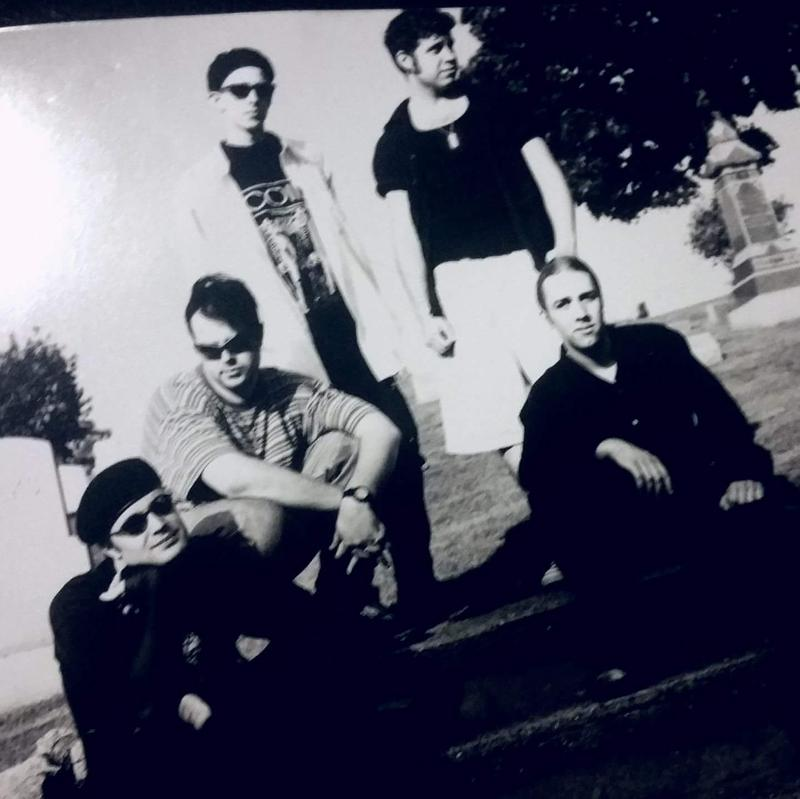 The original members of Amaranth: Ken Magerman, Josh Garman, Maus Wegnerzyn, Nick Benore, Chuck Grahm.