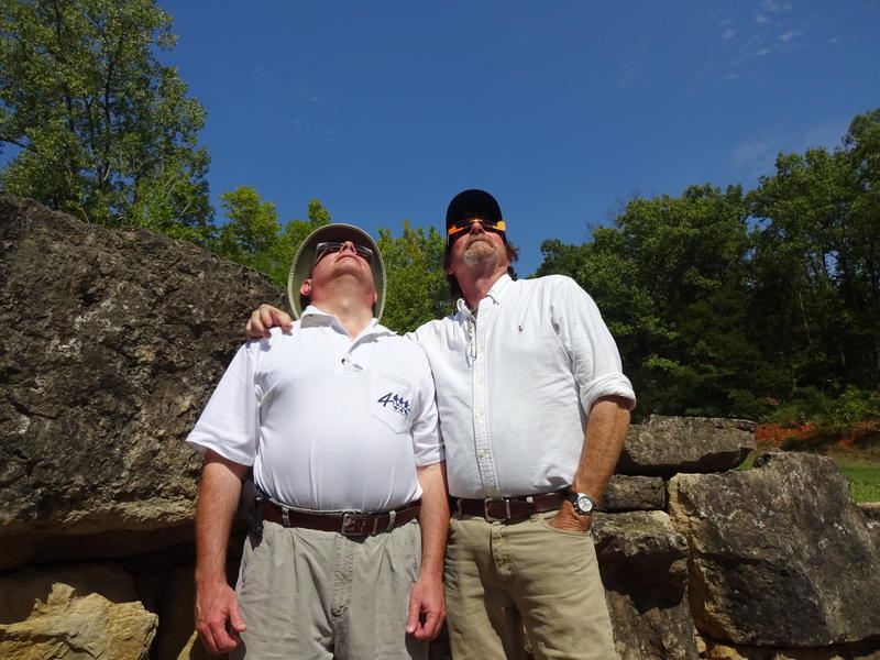 Andy and Russ Robins see their first total solar eclipse