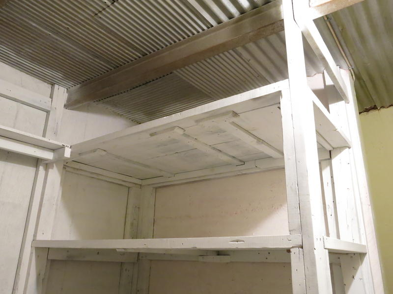 The shelter includes a set of bunks.