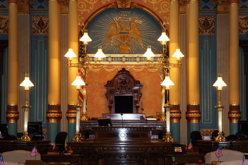 Michigan Senate Chamber - file photo