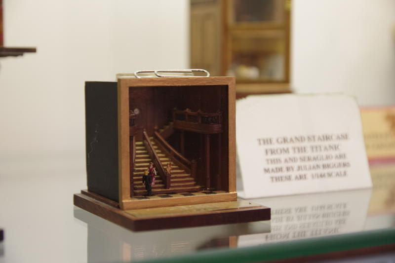 This is one of the smallest in the museum's collection. A recreation of the grand staircase in the Titanic.