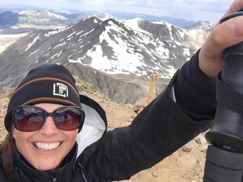 Jennifer Davis on Mount Democrat in Colorado, a 14,000-foot climb