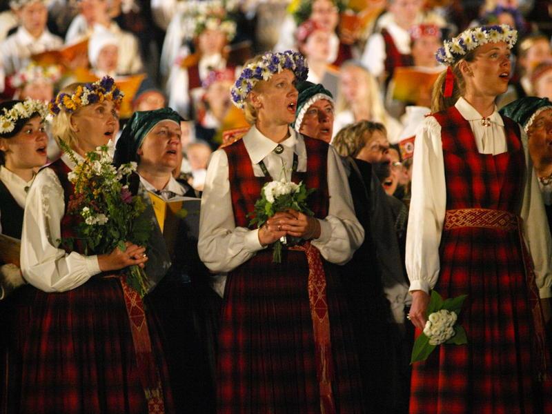 The 2008 Latvian Song Festival in Riga, Latvia