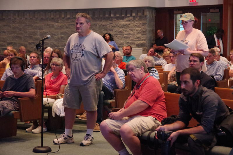File photo of a community meeting regarding PFAS contamination in Richland Township
