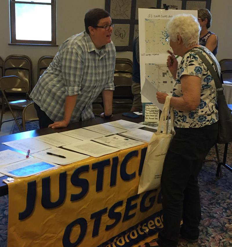 File photo of members of the group Justice for Otsego Greyson Steele, WMUK