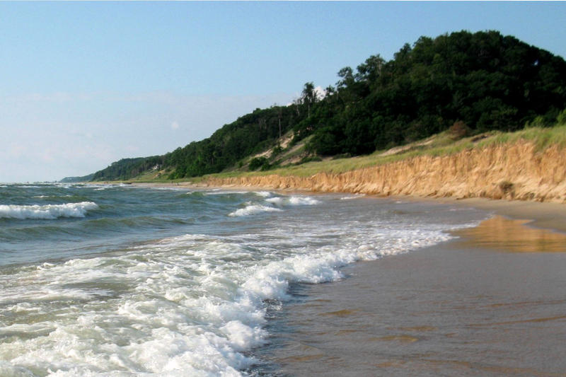 Saugatuck Dunes State Park along the Lake Michigan shoreline. Photo by John Haberstroh, from Wikimedia Commons