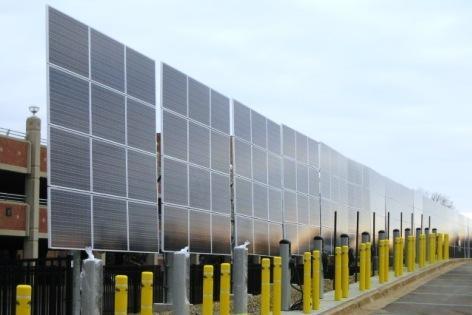 Solar panels near WMU's Miller Auditorium