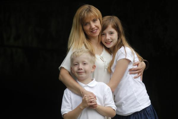 Anne Marie Hamming and her kids