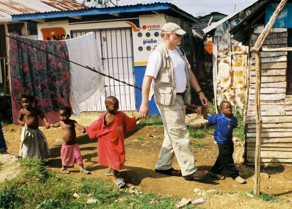 ICC US National Director Keith Mumma with kids in Haiti