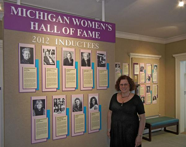 Sandy Soifer in the Michigan Women's Hall of Fame