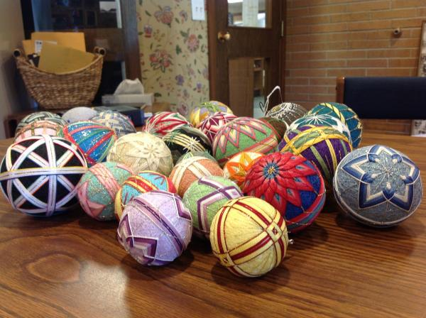 Temari balls made by Ethy Denardo