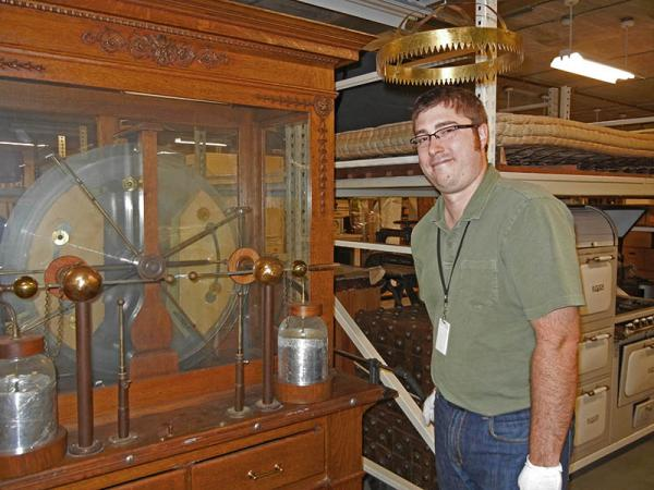 Collections Curator Alex Forist at the Grand Rapids Public Museum.