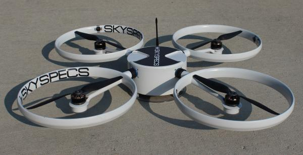 A prototype of the SkySpecs drone