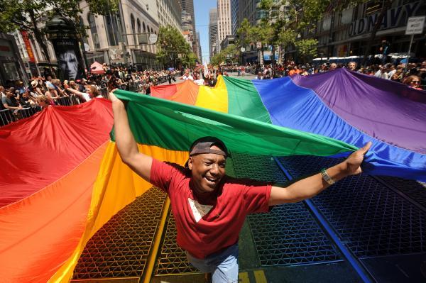 The 2012 gay pride parade in San Francisco (file photo)
