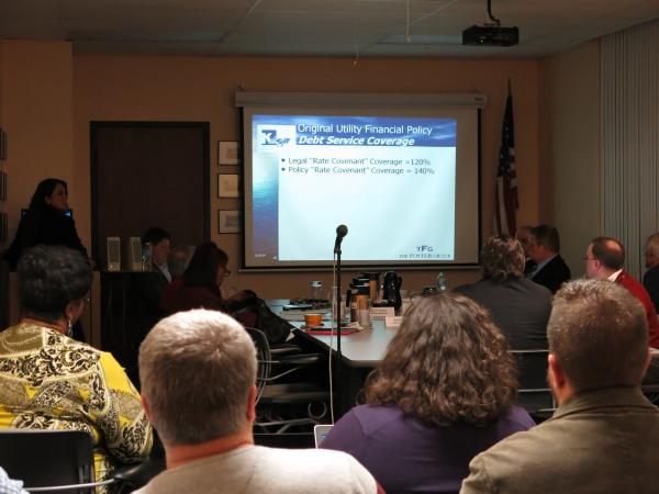 The Kalamazoo City Commission hears a proposal on utility rates at their Feb. 10, 2014 meeting.