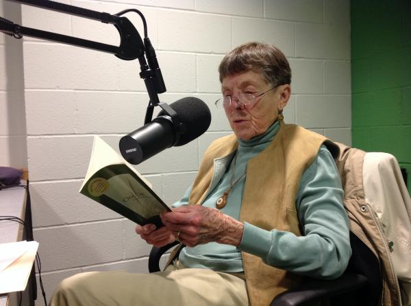 Kalamazoo poet Marie Bahlke in the WMUK studio