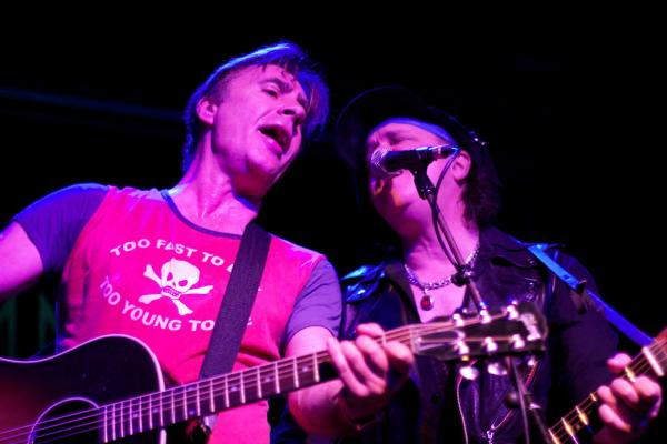 Matlock, left, and Sylvain bring their hits to the stage in acoustic form as part of their tour, 'Punk Goes Acoustic.'