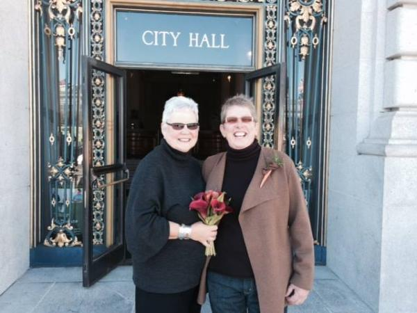 Kim Sanwald and Valerie Lane getting married in San Francisco