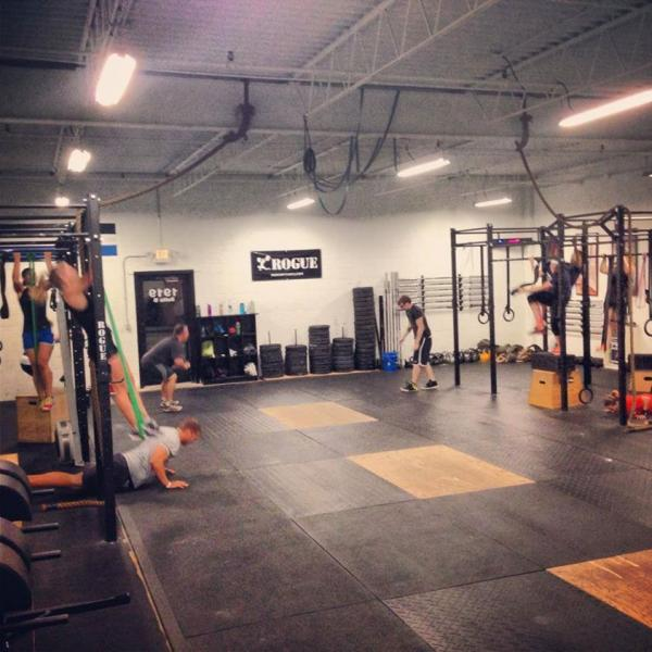 A training session at Crossfit 269 in Kalamazoo.