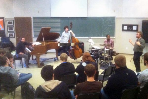 Benje Daneman teaching at a jazz clinic in Nebraska