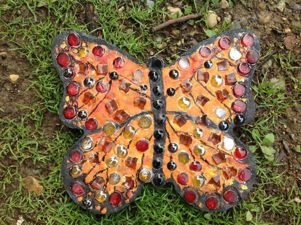 One of the Stuart neighborhood monarch butterflies