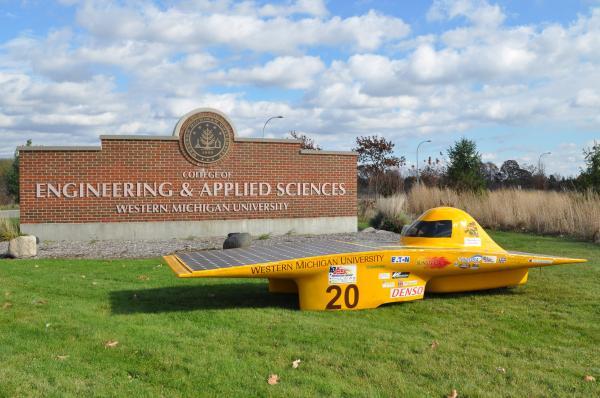 Western Michigan University's Sunseeker solar car.