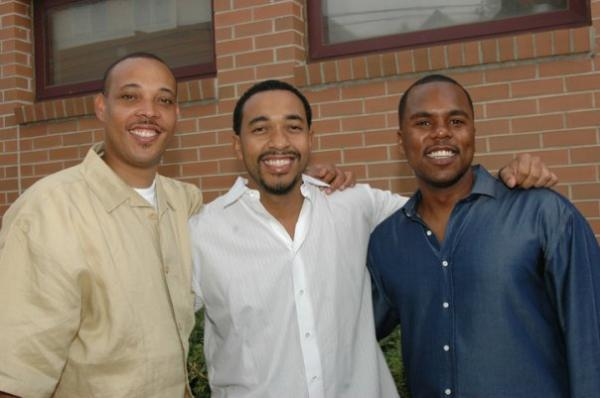 """The Three Doctors,"" from left, Drs. George Jenkins, Sampson Davis and Rameck Hunt, credit a boyhood pact with their triumphing over negative influences in the inner-city to become doctors. They hope others will replicate their teamwork approach when they speak Wednesday, July 30 at Kalamazoo's Chenery Auditorium."
