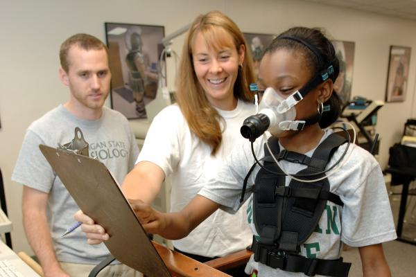 2009 file photo of a student participating in a program designed to reduce childhood obesity in Flint