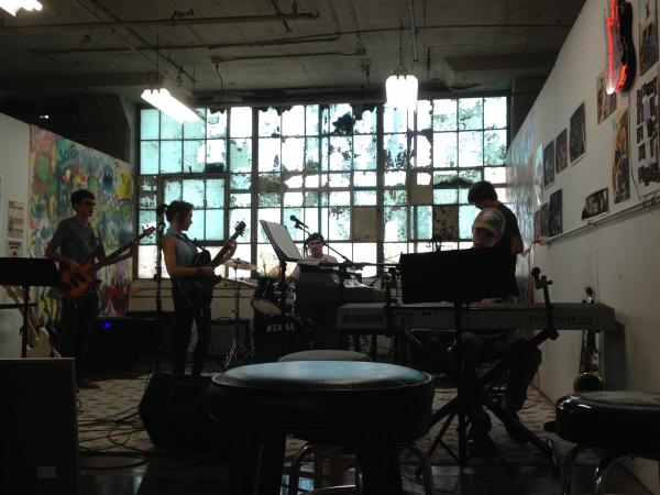 The Kalamazoo Academy of Rock thursday night band at the old Gibson Guitar Factory