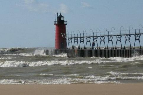 South Haven Lighthouse on Lake Michigan