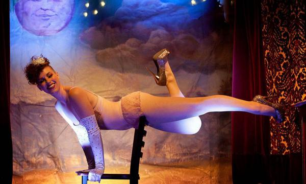 The Vivacious Miss Audacious does acrobatics and hula hooping for the show, but you may not see many more of her burlesque acts. Lil Darlins organizers say they're trying to keep true to the vaudeville format.