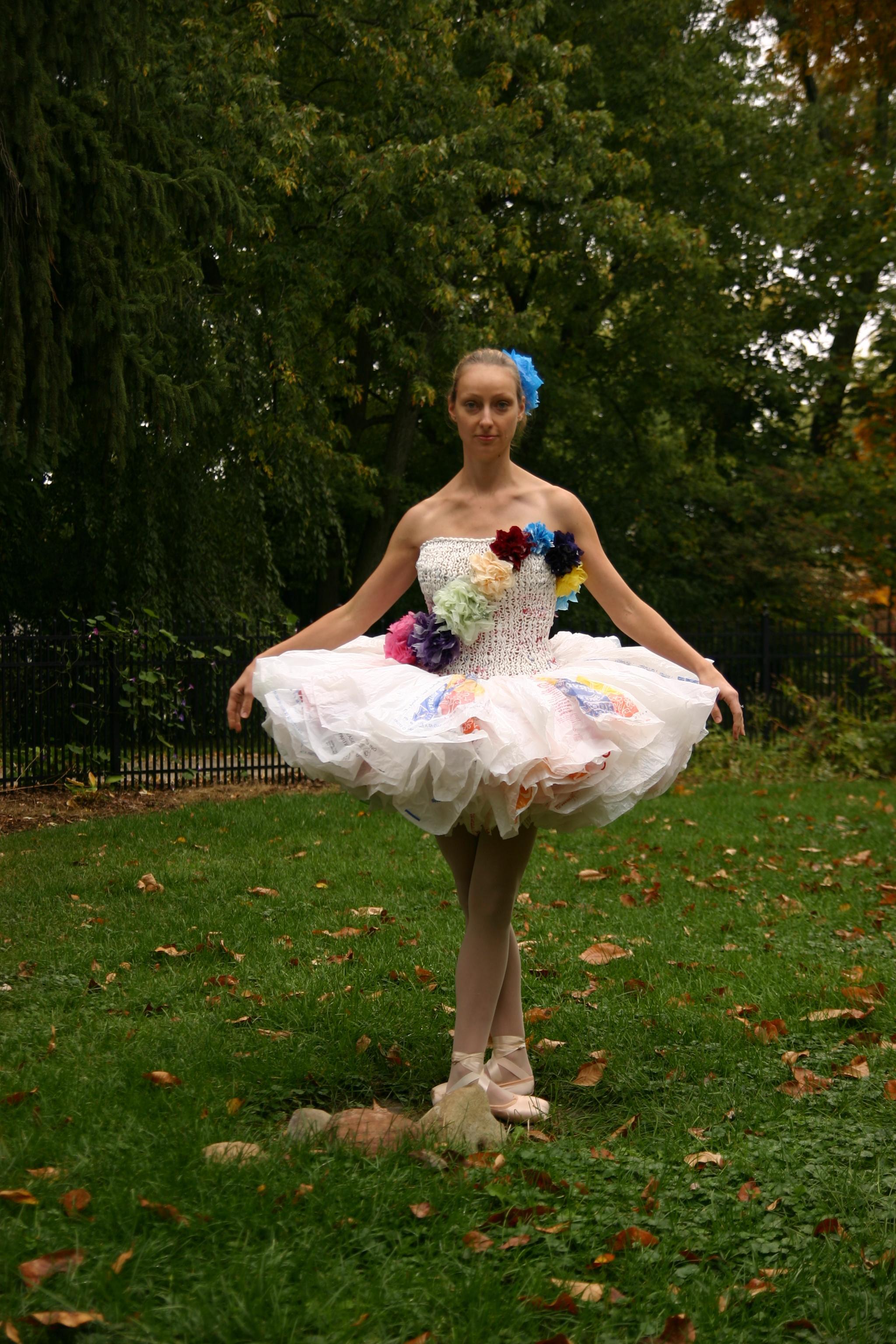 Ballet Dancer Dresses Recyclables Wmuk Zoe Valette Modeling Tutu Dress