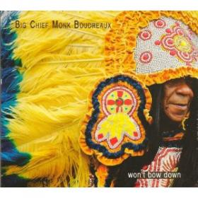 "Big Chief Monk Bordeau's ""Won't back down"" album art"