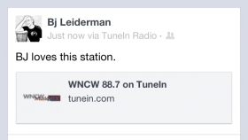 BJ Leiderman loves this station