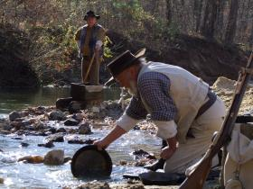 Gold Fever (Some old dudes panning for gold)