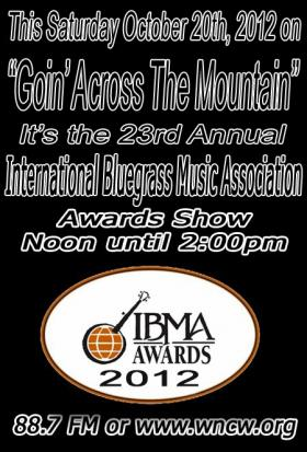 International Bluegrass Music Association Awards Flier