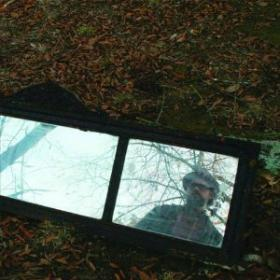 Patterson Hood mirror on the ground