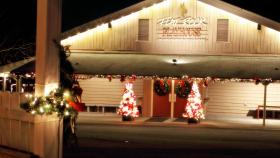 Flatrock playhouse at christmas