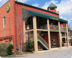 Mellow  Mushroom building in greenville