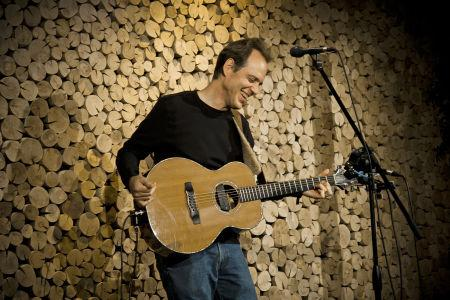 David Wilcox with a guitar