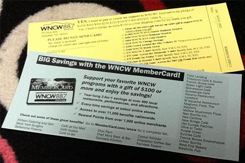 WNCW Mail Cards