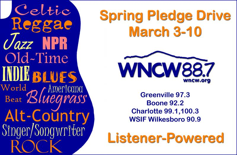 WNCW Pledge Now Genre Logo