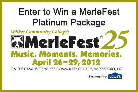 enter to win a merlefest platinum package