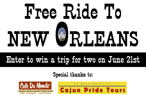 "Nola special thanks logo ""win a trip!"""
