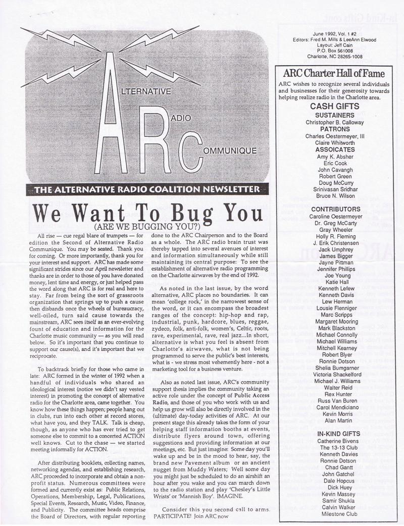 ARC Newsletter from 1992
