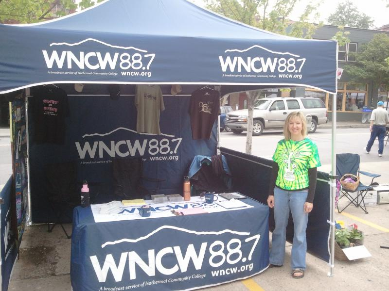 Kimberly Walker at the WNCW booth.