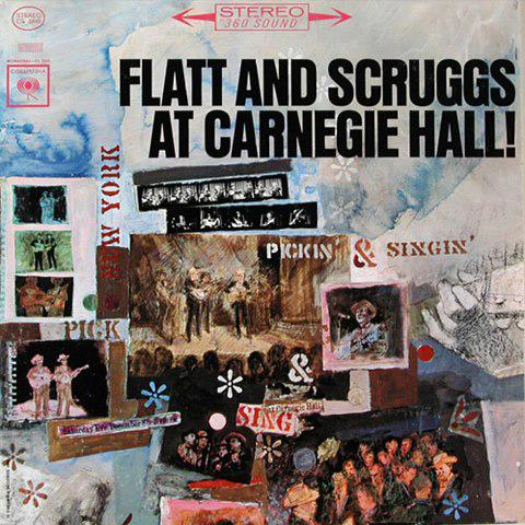 Flatt and Scruggs at Carnegie hall Album Art